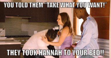 Black intruders take Hannah!!