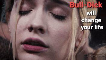 Blonde Sissy Caption Bull-Dick Change