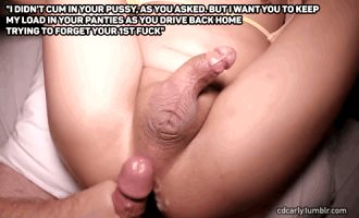 I love it when he sends me off messy.