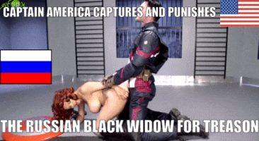 Political caption USA fucks russia